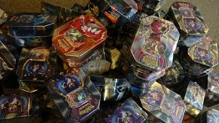 Opening 64 Pokemon tins