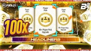INSANE HEADLINER PACKED! 100 X 80+ PLAYER PICKS! | FIFA 21 ULTIMATE TEAM