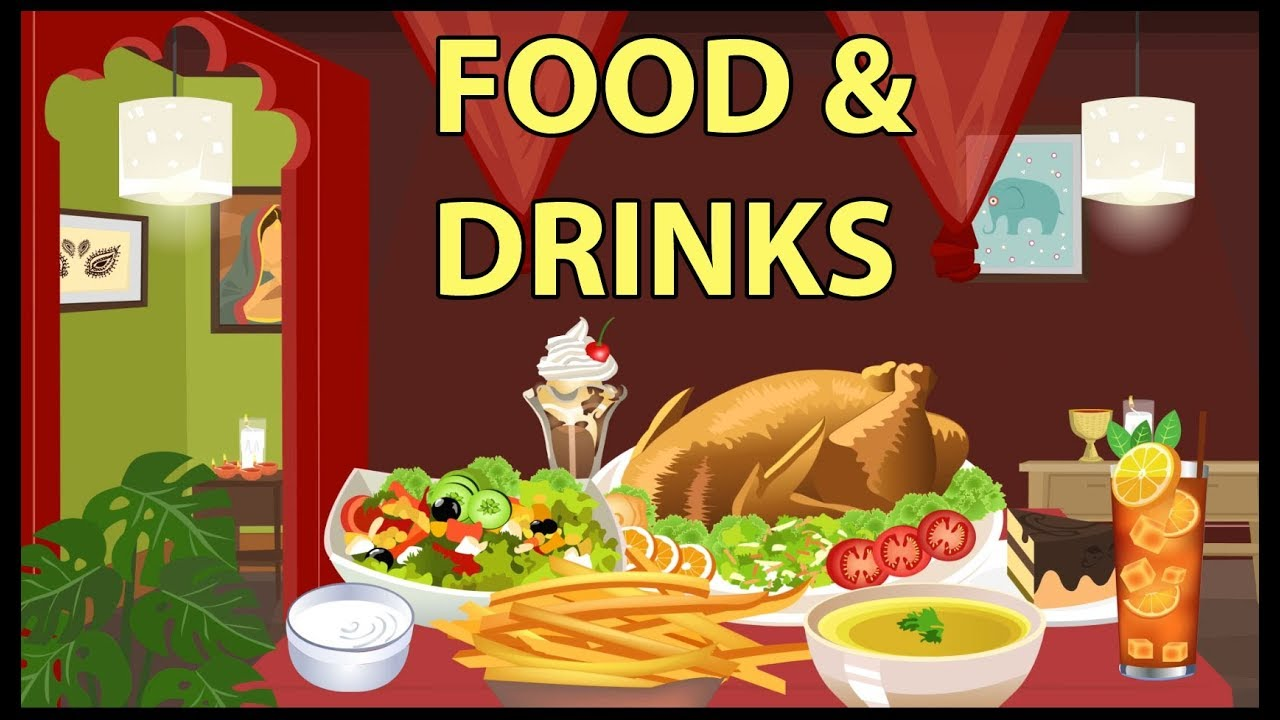 drinks food vocabulary ourboox