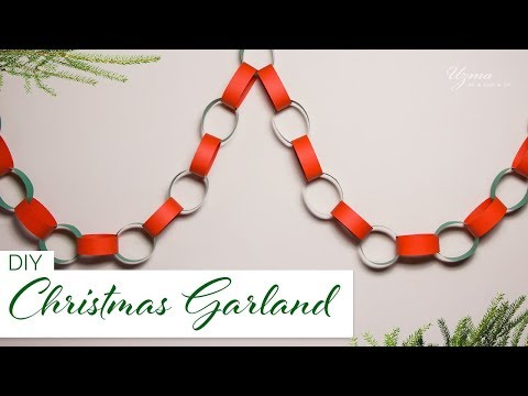 DIY Paper Chain Garland for Christmas