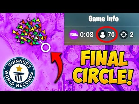 *70 PLAYERS* IN FINAL CIRCLE! *NEW* RECORD! - Fortnite Funny Fails and WTF Moments! #450