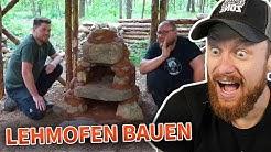 Survival LEHMOFEN selber bauen 🔥 Naturensöhne BUSHCRAFT CAMP   Fritz Meinecke Twitch Highlights