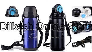 Thermos Water Bottle - Blue Double Cover Multi-function Mug Travel Pot/Insulation Pot