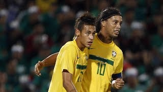 Neymar & Ronaldinho destroying Argentina Amazing Performance