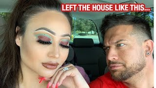 I DID MY MAKEUP HORRIBLY TO SEE HOW MY HUSBAND WOULD REACT