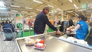 $ 12 shopping in a HUGE  Russian Supermarket. BBQ Preparation