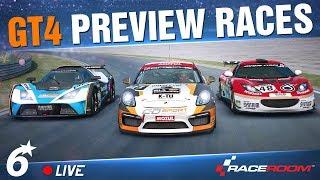 RACEROOM // GT4 Multiplayer PREVIEW 🔴LIVE