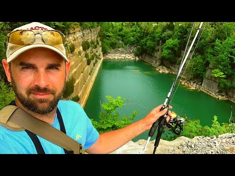 AWESOME!! Old Rock Quarry - IS THERE Fish??