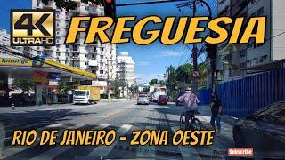 【4K】🚕 FREGUESIA Ruas do Bairro | Rio de Janeiro by Car