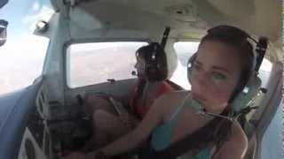 My moms first flight!!! Cessna 152 to Catalina Part 1