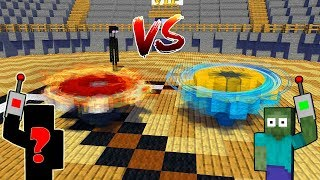 Monster School  BEYBLADE BATTLE COMPETITION - Minecraft Animation