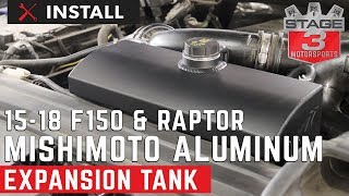 2015-2018 F150 and Raptor Mishimoto Aluminum Coolant Expansion Tank Install