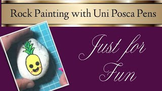 Rock Painting & Reviewing Uni Posca Pens with my Kids!