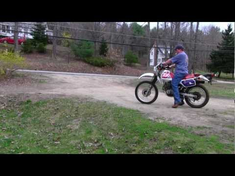 1996 Honda Motorcycle XR250L Dirt Bike Driving