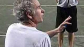 John McEnroe throwing a tantrum at age 48