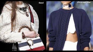 Тренды моды: вязаные топы и пуловеры. Вязаные пуловеры от дизайнеров. Модные пуловеры спицами