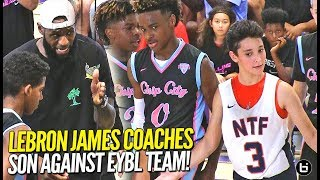 LeBron James Coaches Bronny Jr Against EYBL TEAM in Championship Game!