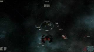 StarShatter: 4 TIE Avenger vs 15 stock Falcon fighter