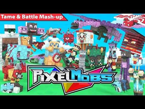 pixelmobs-mash-up---official-trailer-(minecraft-map-&-texture-pack)