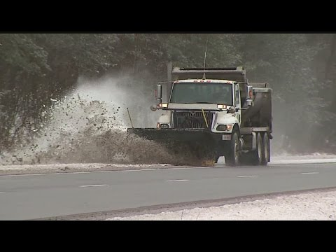 First snowfall kept plow drivers busy