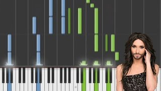 Conchita Wurst - Rise Like A Phoenix (Piano Tutorial)