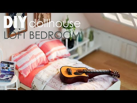DIY Dollhouse Loft Bedroom – Diorama Breakdown for Toy Photography