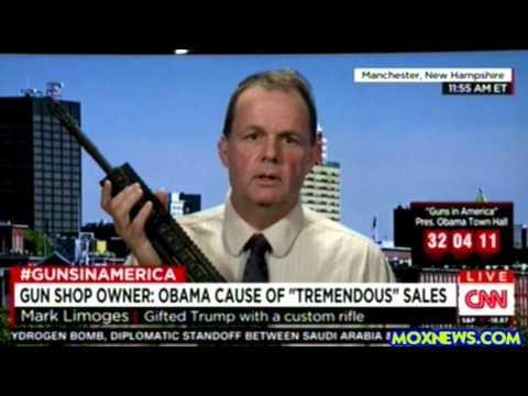 Gun Shop Owner Gives Donald Trump Customized Assault Rifle (AR-15)