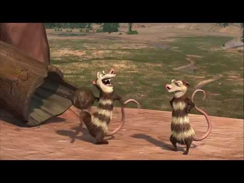 Ice Age : Crash and Eddie funny scenes