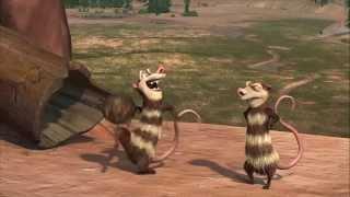Ice Age : Crash and Eddie funny scenes
