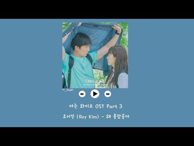 [韓繁中字] Roy Kim(로이킴) - 為什麼不知道呢(왜 몰랐을까) - 認識的妻子 아는 와이프 OST Part 3