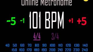 metronomo online online metronome 101 bpm 44