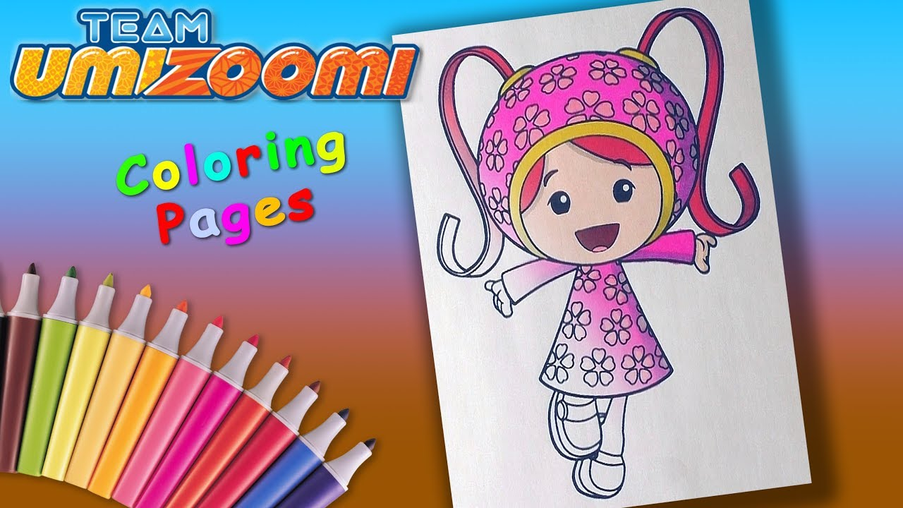 Team Umizoomi Coloringforkids Milli Coloring Pages And Learncolors Youtube
