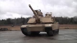 American M1A2 Abrams tank Maneuvers.