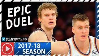 Lauri Markkanen vs Kristaps Porzingis EPIC Duel Highlights (2018.01.10) Bulls vs Knicks - MUST SEE!
