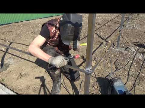 Как сделать палисадник своими руками перед домом из профтрубы