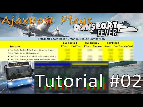Transport Fever: Tutorial - The Best City Bus Routes?