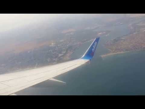 Fly Dubai take off from Odessa Ukraine