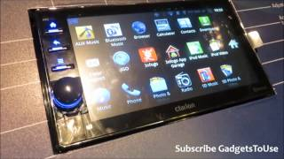 Hands on Clarion Ax1 Android Car Audio System Features and Overview HD