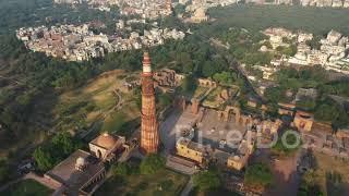 Qutub Minar Delhi Drone Video