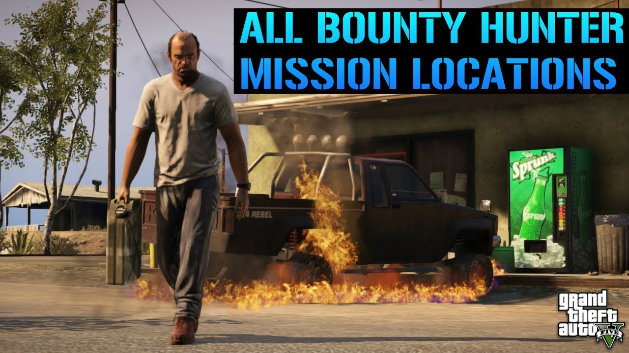 GTA 5 - All Bounty Hunter Mission Locations In Detail !!!!