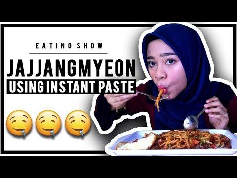 BLACKBEAN NOODLES aka JJAJANGMYEON HALAL MALAYSIA 🍝 | EATING SHOW