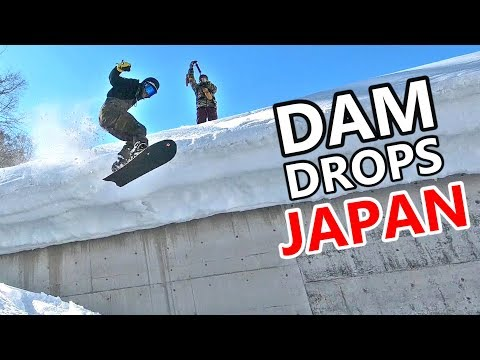 DAM DROPS IN JAPAN SNOWBOARDING