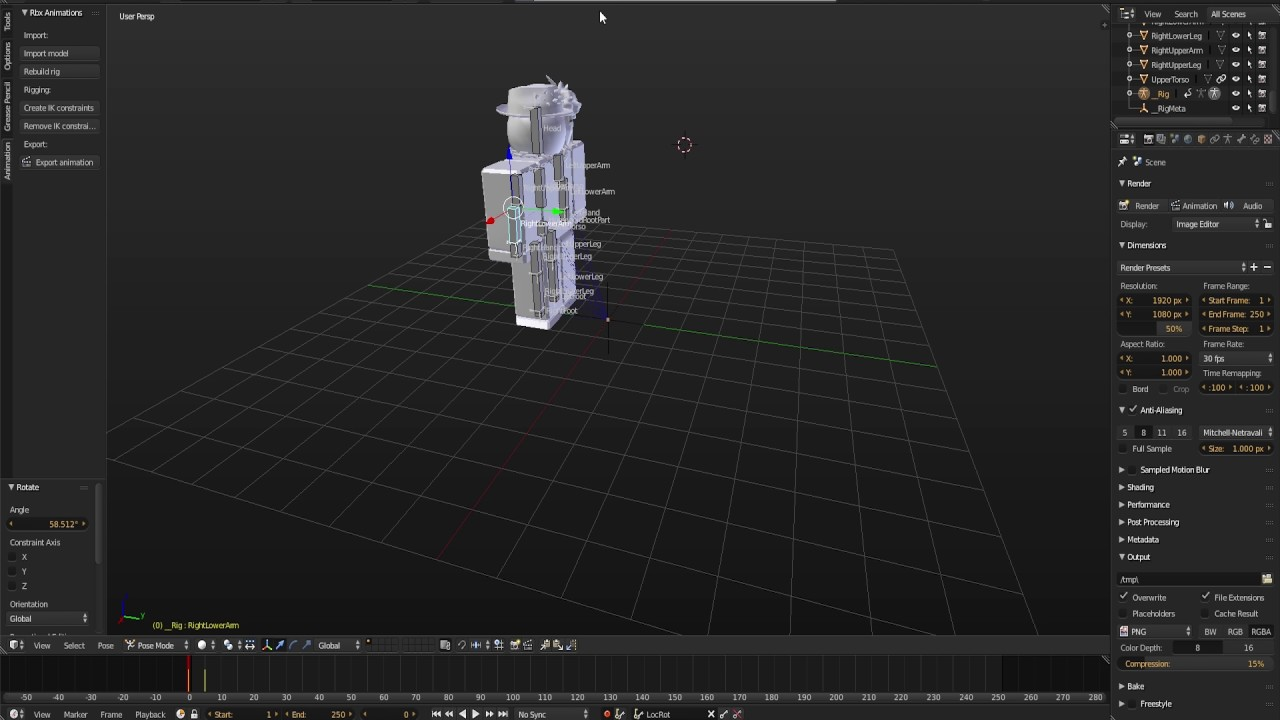 Roblox Blender Rig 2020 Roblox Blender Rig Exporter Animation Importer Tutorial Youtube
