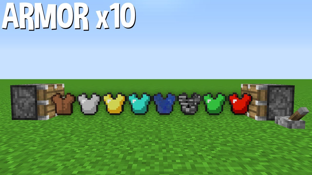 ARMOR x10 = ??? How to get MEGA ARMOR in Minecraft ?
