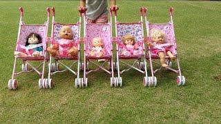 メルちゃん、ぽぽちゃん、ネネちゃんみんなでベビーカー / Baby Doll Stroller for Five babies