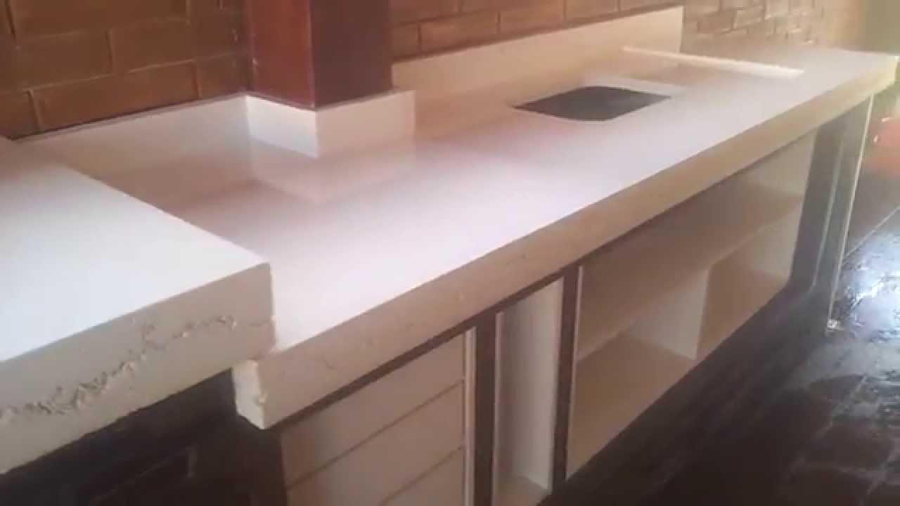 Como Fazer Bancada De Cozinha Em Concreto Beyato Com V Rios  ~ Pia De Resina Para Cozinha