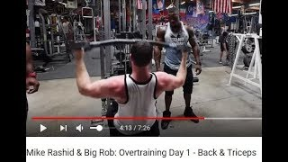 Mike Rashid Still Trying To Bring Back Overtraining... What?!