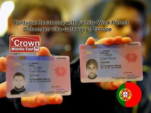 Portugal Residency Permit-TRC with Family Schengen visa 2019.