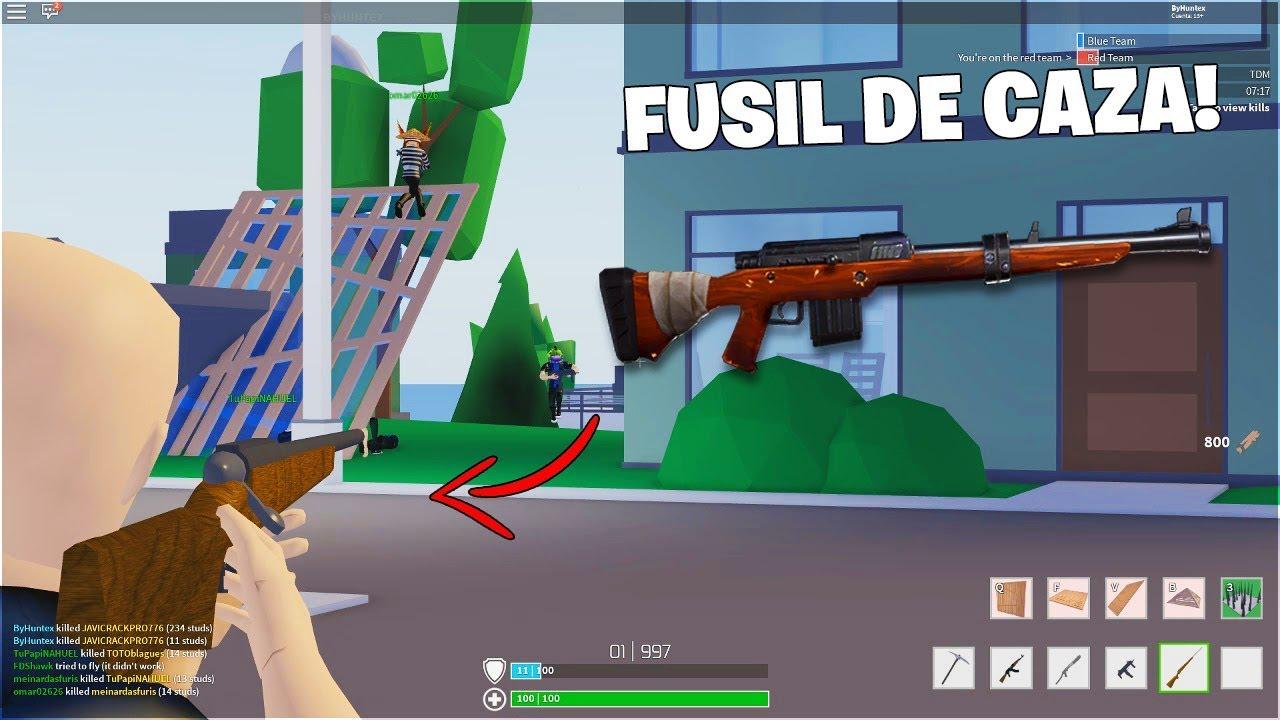 Probando el Fusil de Caza de Strucid | Fortnite De Roblox ...