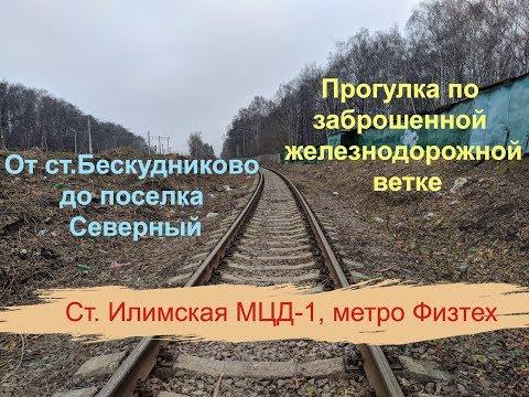 Путь от Бескудниково до поселка Северный по заброшенной железной дороге. Станция Илимская, Физтех.
